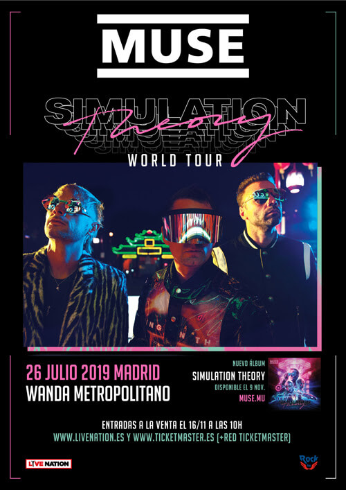 Gira concierto Muse 2019