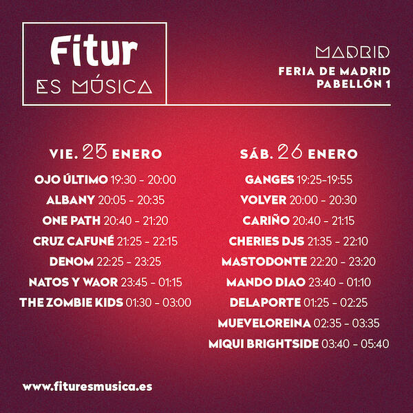 HorariosFitur Es Música 2019