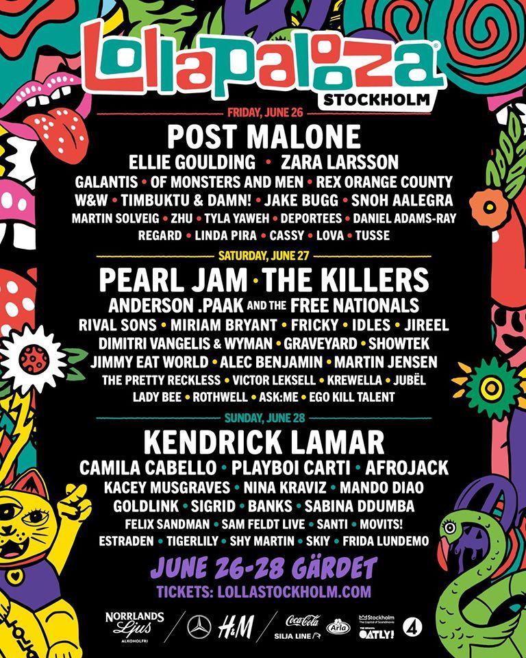 Lollapalooza Estocolmo 2020