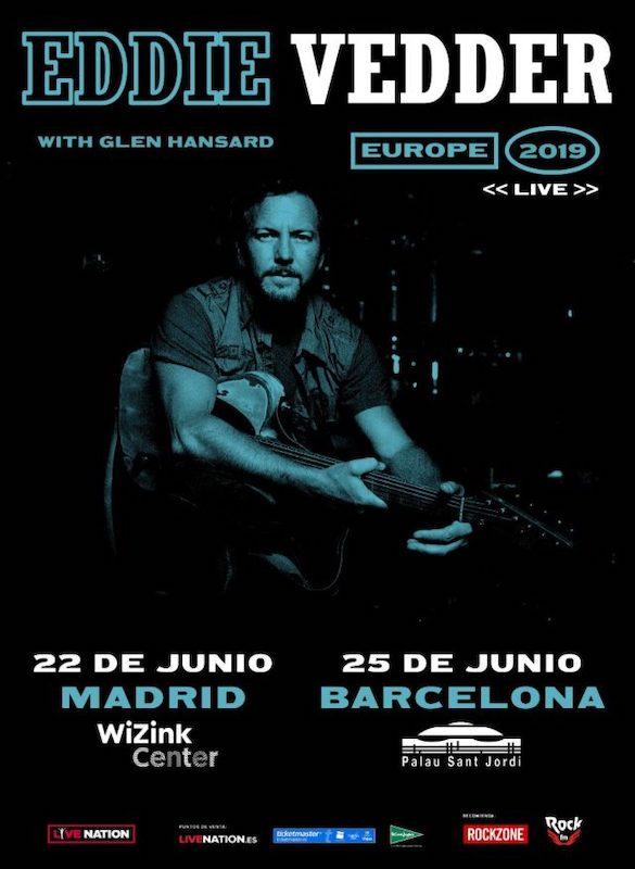 Conciertos de Eddie Vedder en Madrid y Barcelona 2019