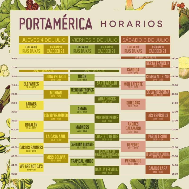 Horarios PortAmerica 2019