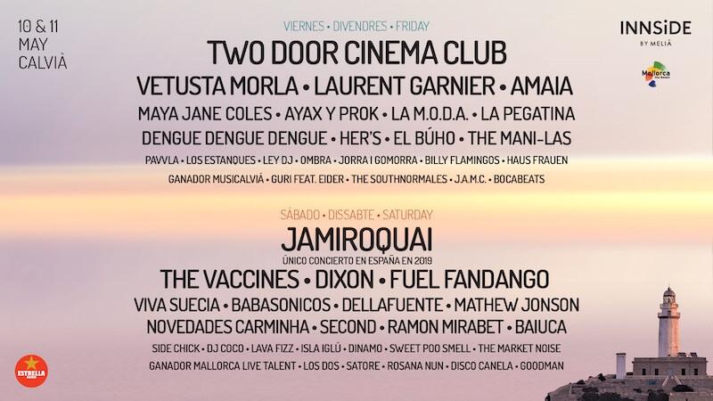 Mallorca Live Festival 2019 - Cartel por días