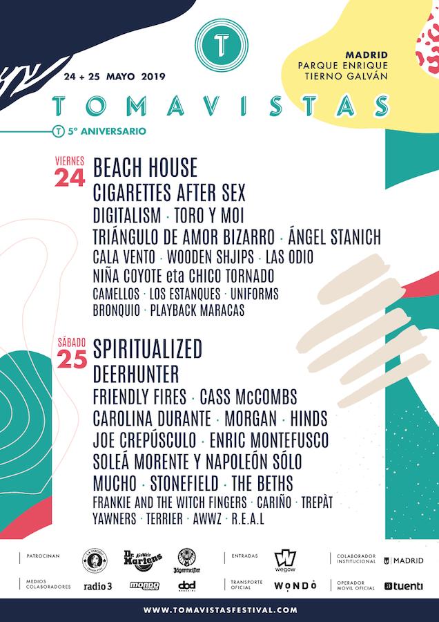 Tomavistas 2019 - Cartel por días