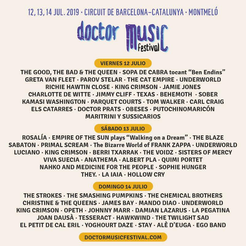 Doctor Music Festival 2019 - Cartel por días