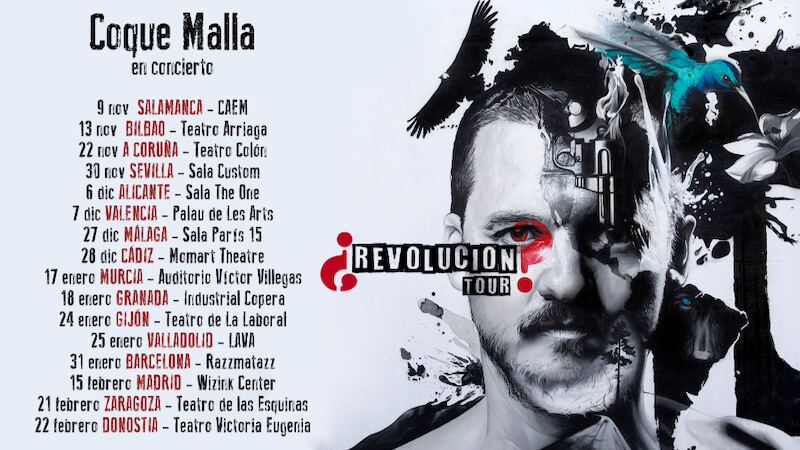 Conciertos Coque Malla 2019