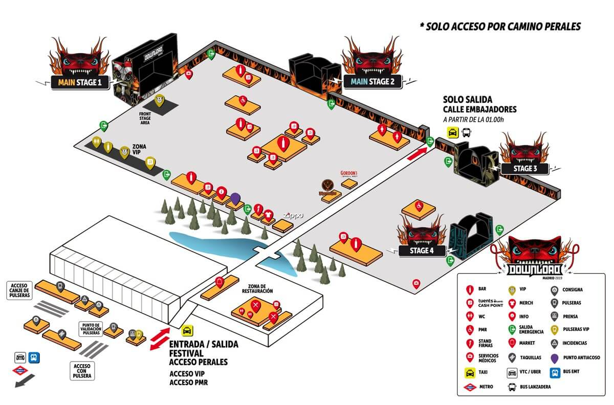 Mapa del Download Madrid 2019