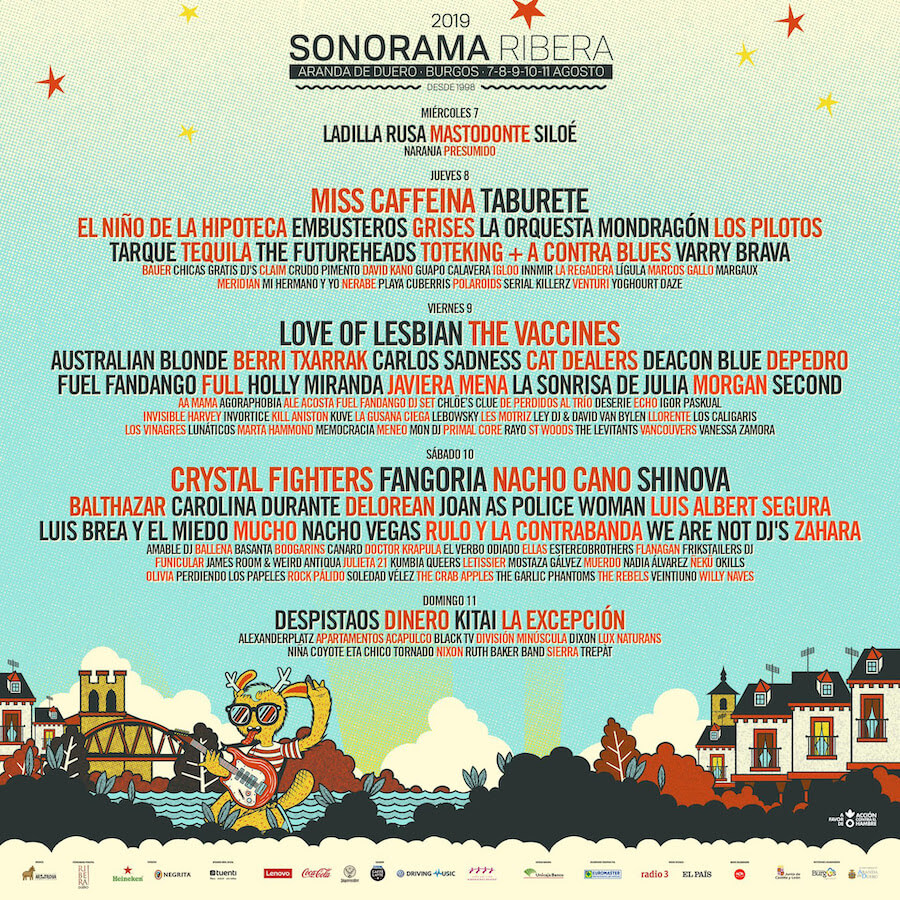 Sonorama 2019 - Cartel por días