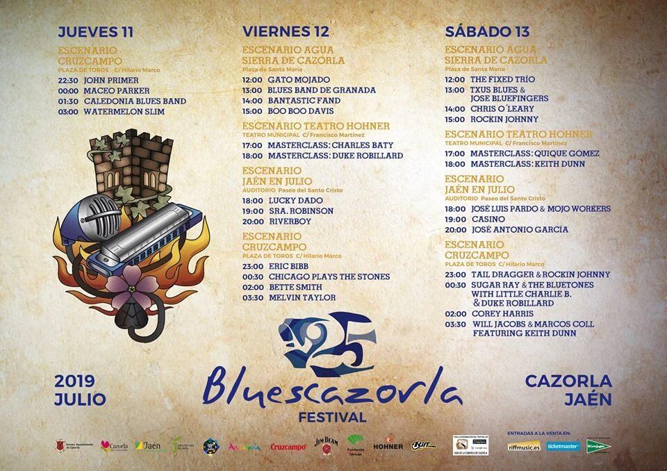 Horarios Blues Cazorla 2019