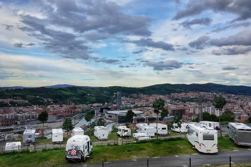 Parking de autocaravanas en Bilbao