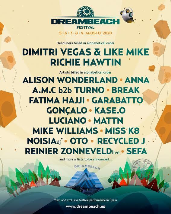 Entradas Festival DreamBeach Villaricos 2020 Almería cartel informativo en tienda buscafiesta