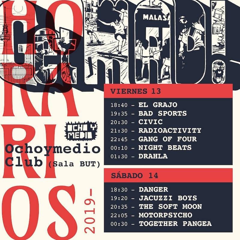 Horarios de GetMAD! Festival 2019