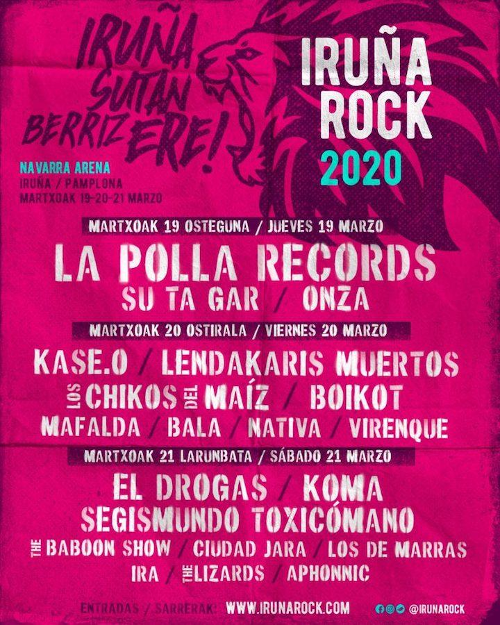 Cartel Iruña Rock Festival 2020