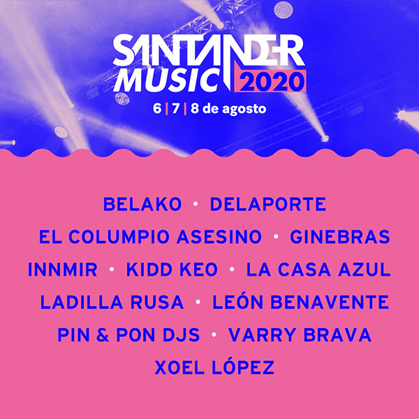 Santander Music 2020 - Cartel