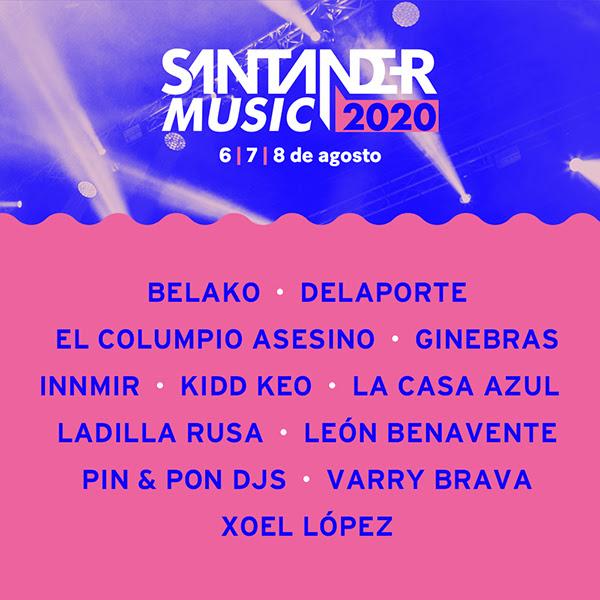 Santander Music 2020 - Cartel