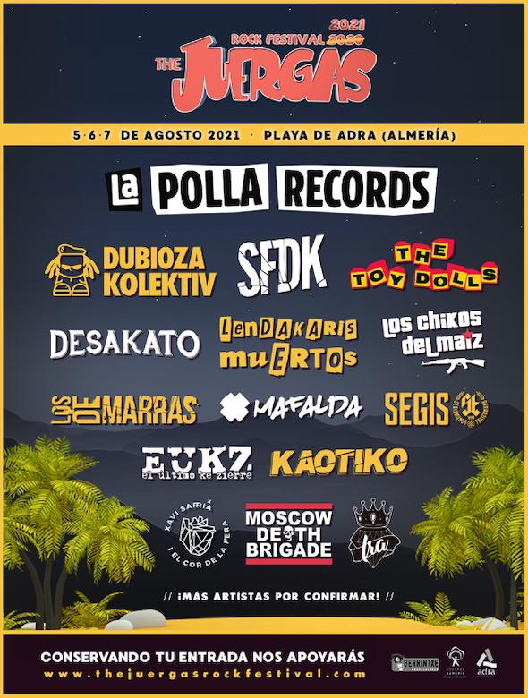 Cartel The Juergas Rock Festival 2021