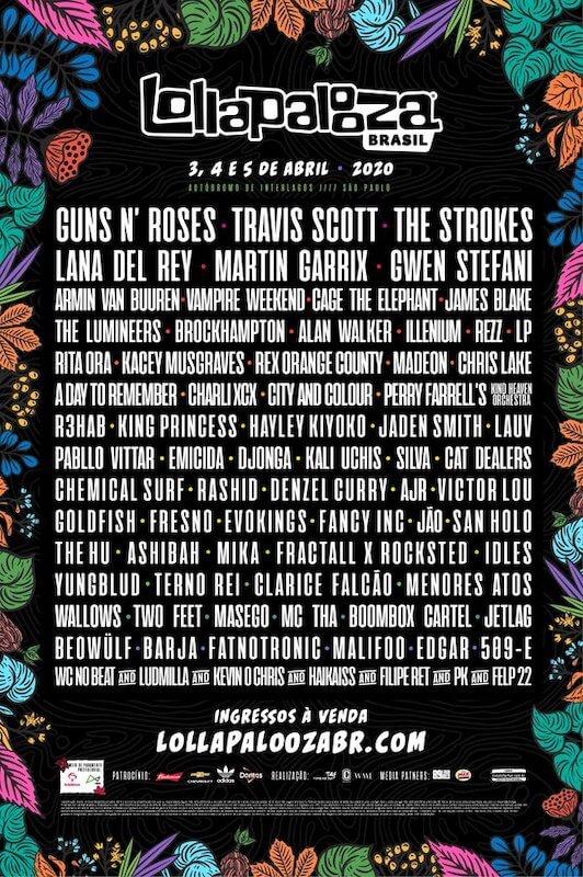 Cartel del Lollapalooza Brasil 2020