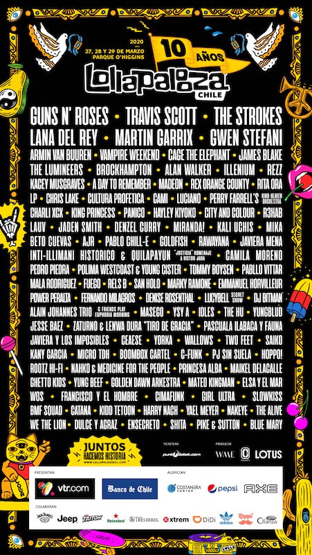 Cartel del Lollapalooza Chile 2020