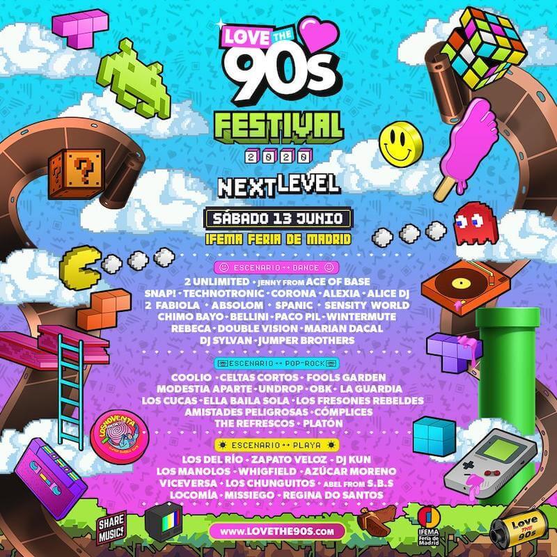Cartel del Love the 90's 2020