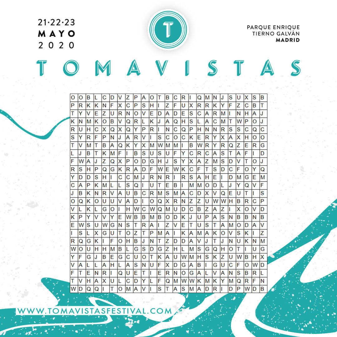 Sopa de letras - Tomavistas 2020