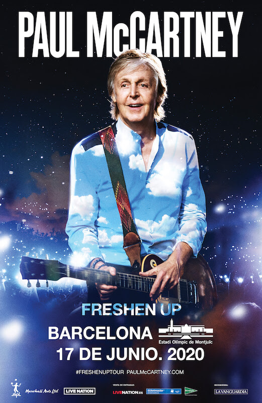 Concierto de Paul McCartney en Barcelona en 2020