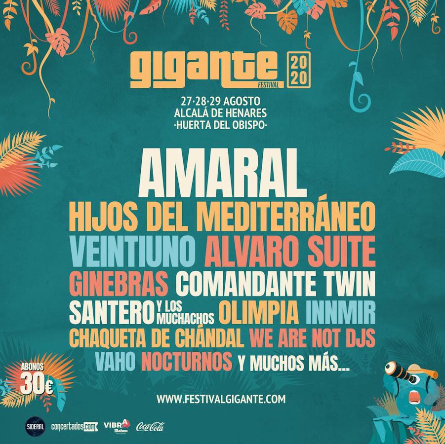 Cartel Festival Gigante 2020