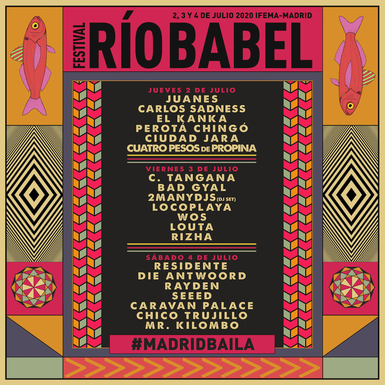 Cartel Río Babel 2020
