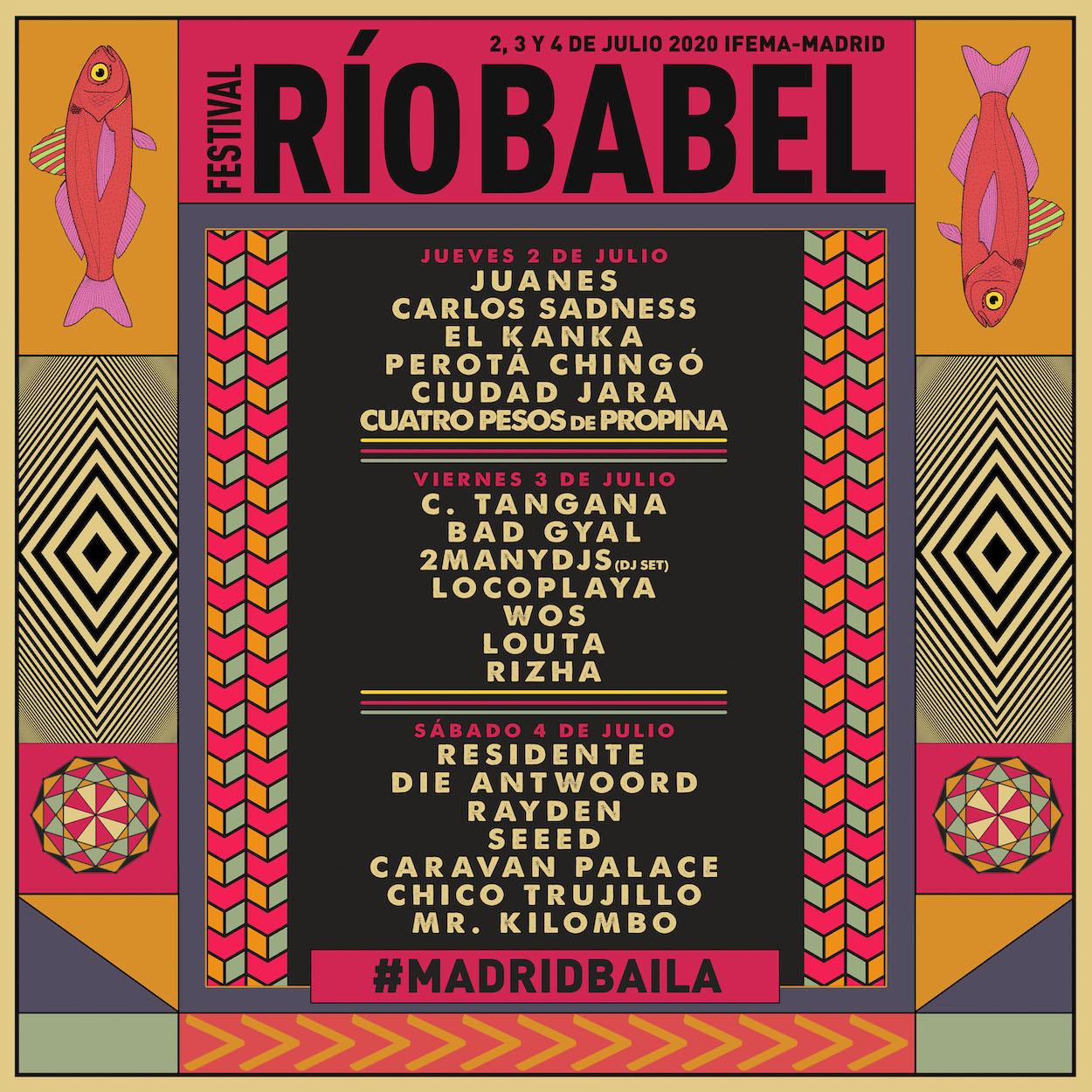Cartel Río Babel 2020