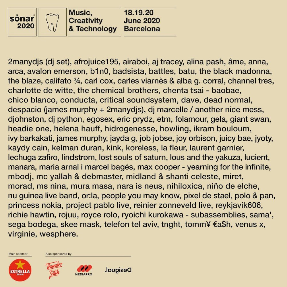 Cartel Sónar Barcelona 2020