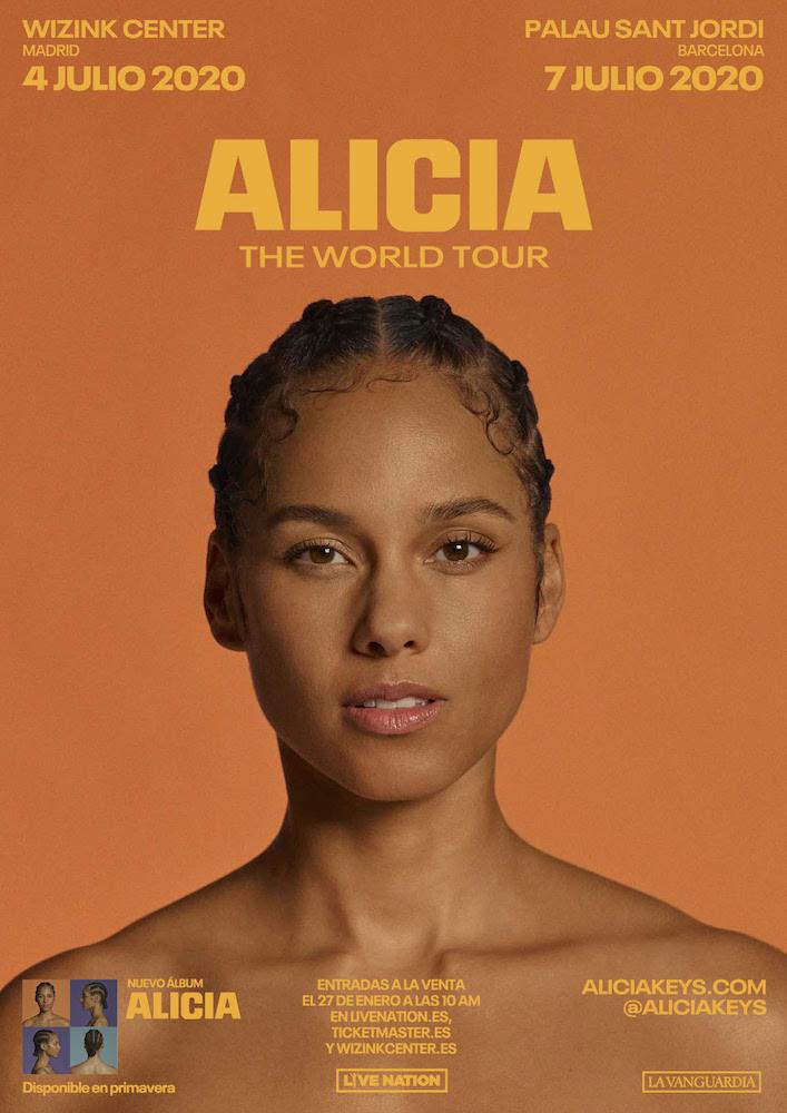 Conciertos de Alicia Keys en España 2020