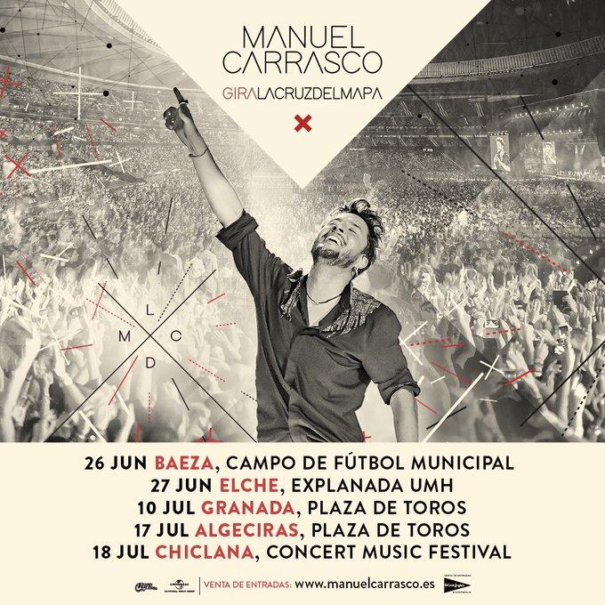 Conciertos de Manuel Carrasco en 2020