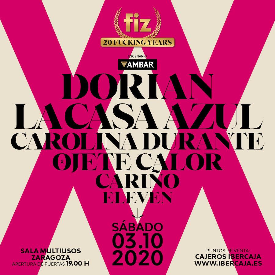 Cartel FIZ Festival 2020 - Zaragoza