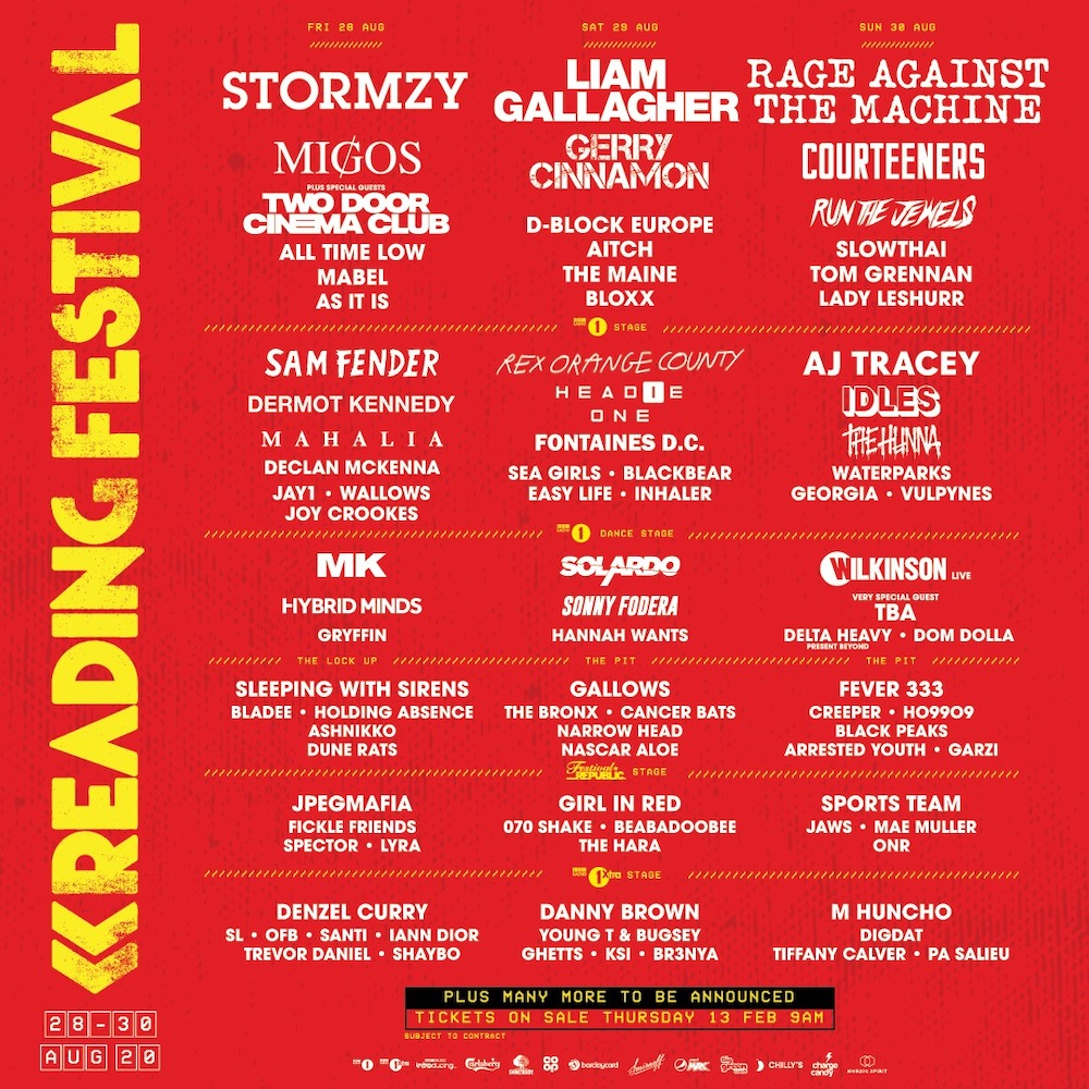 Cartel del Reading Festival 2020
