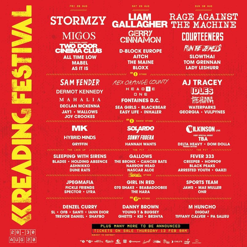 Cartel del Reading Festival 2020