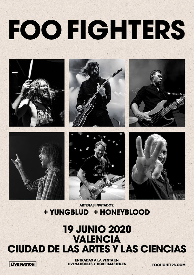 Concierto Foo Fighters en Valencia 2020