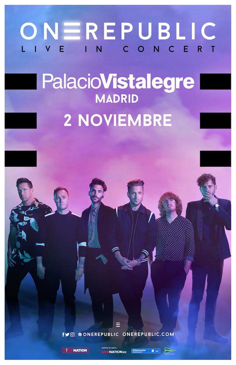 Concierto OneRepublic Madrid 2020