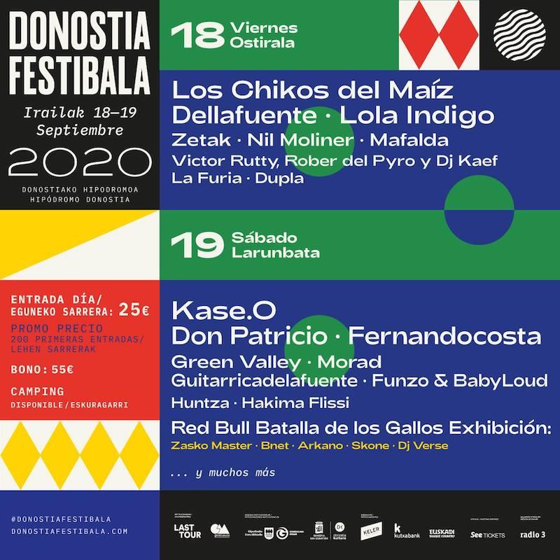 Donostia Festibala 2020 - Cartel por días