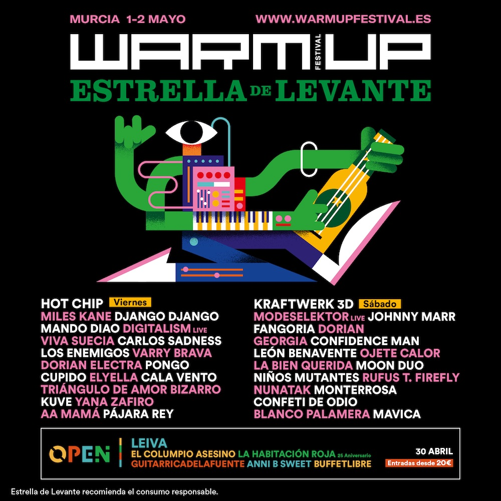 WARM UP 2020 - Cartel por días
