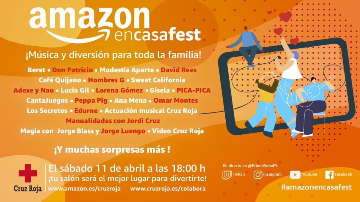 Amazon en casa fest - Conciertos en streaming