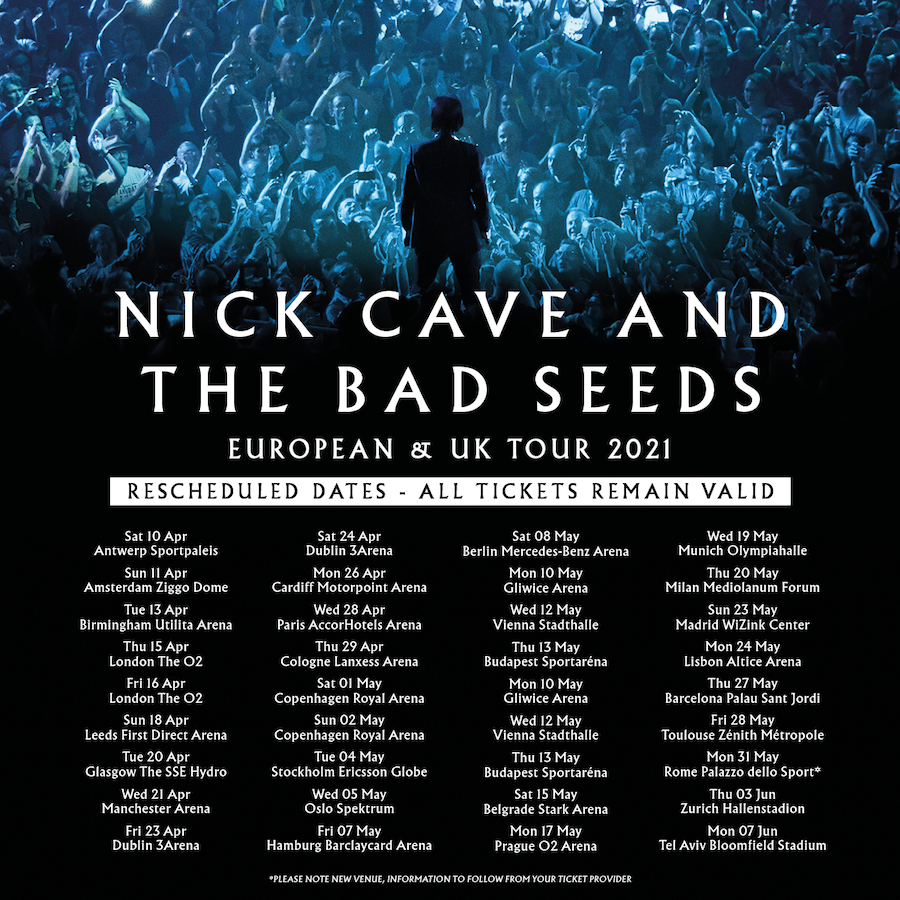 Conciertos de Nick Cave & The Bad Seeds en 2021: Madrid y Barcelona