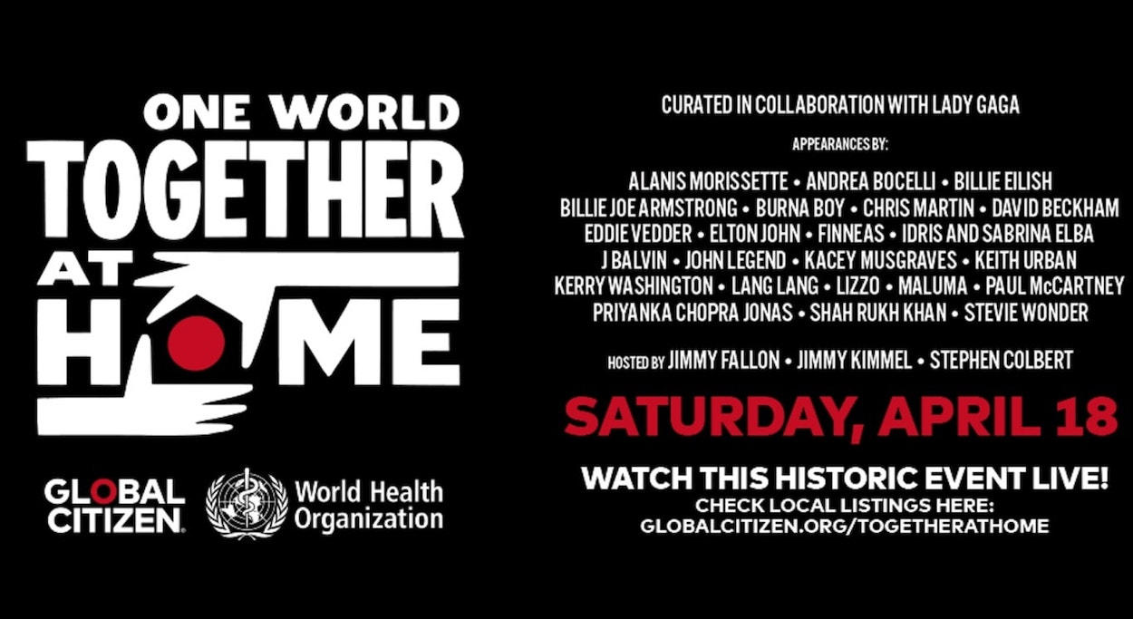One World: Together at Home: conciertos en streaming