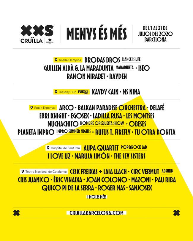 Cruïlla XXS: Conciertos y actividades en Barcelona