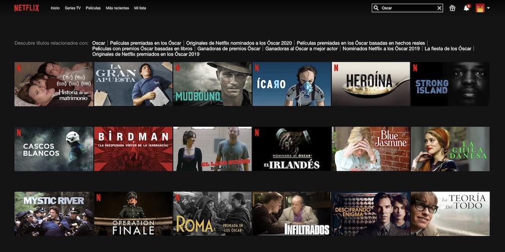 Truco de Netflix: ¿cómo encontrar películas premiadas a los Oscar, Sundance, Cannes...?