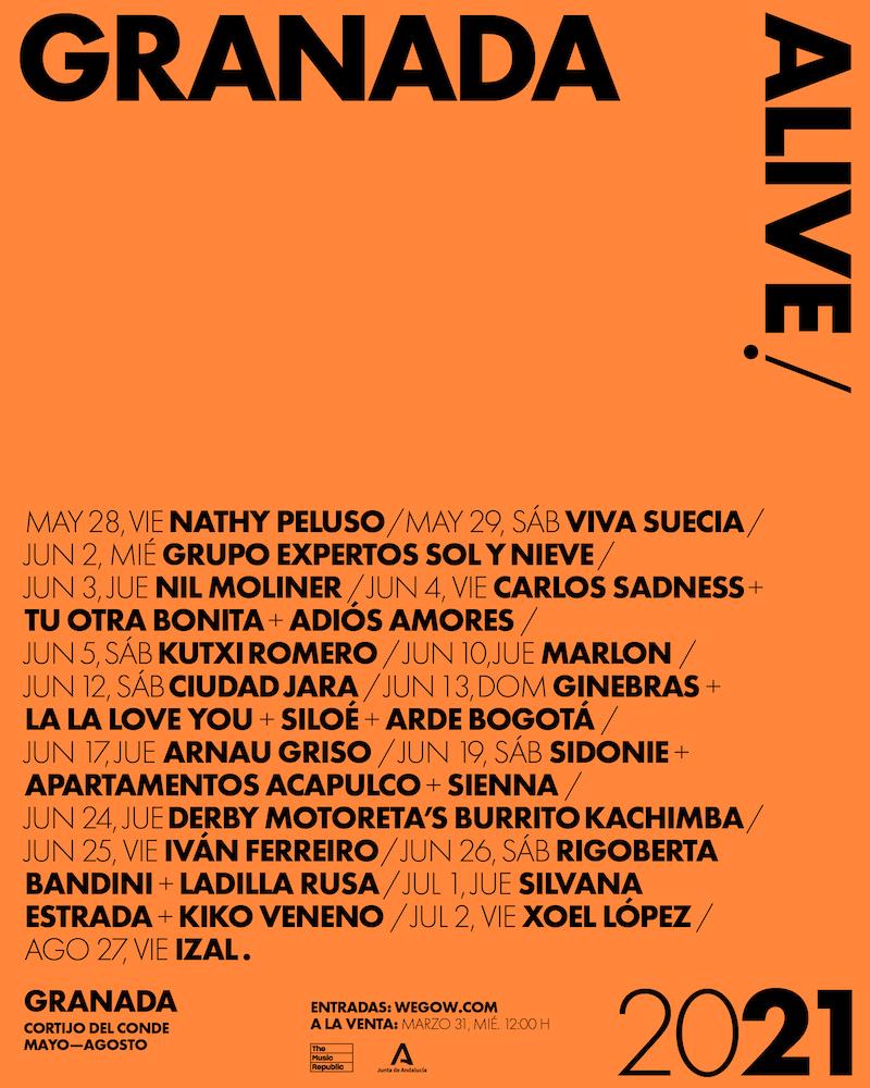 Granada Alive 2021 - Conciertos y fechas