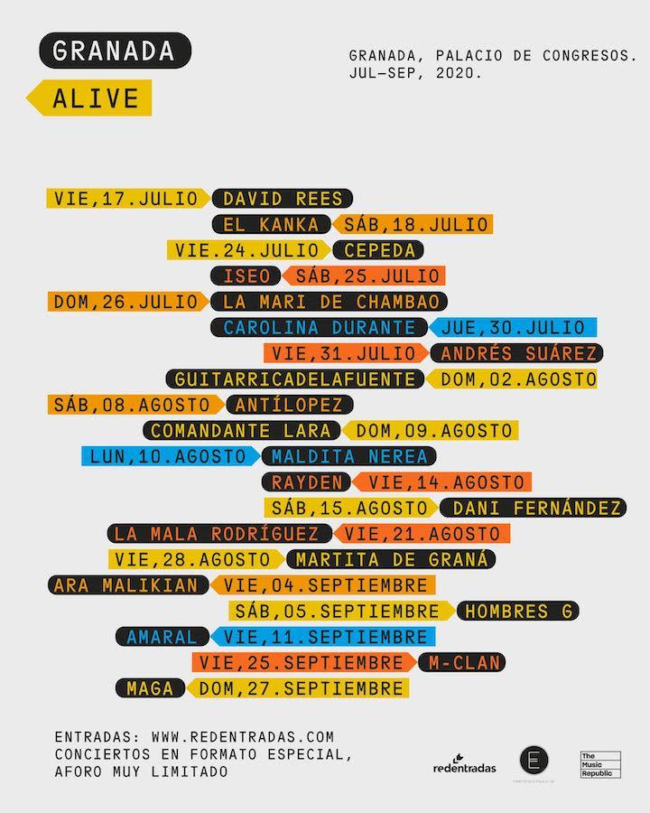 Granada Alive: conciertos y fechas