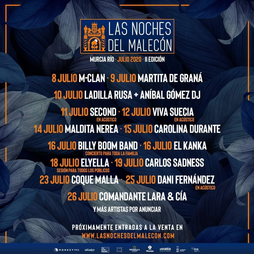 Conciertos Las Noches del Malecón 2021