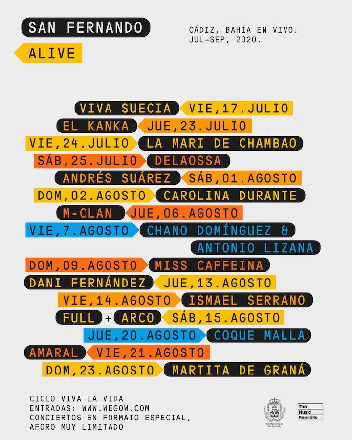 Conciertos San Fernando Alive