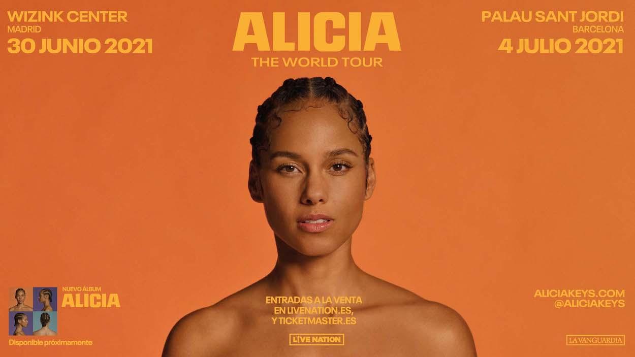 Conciertos de Alicia Keys en España 2021