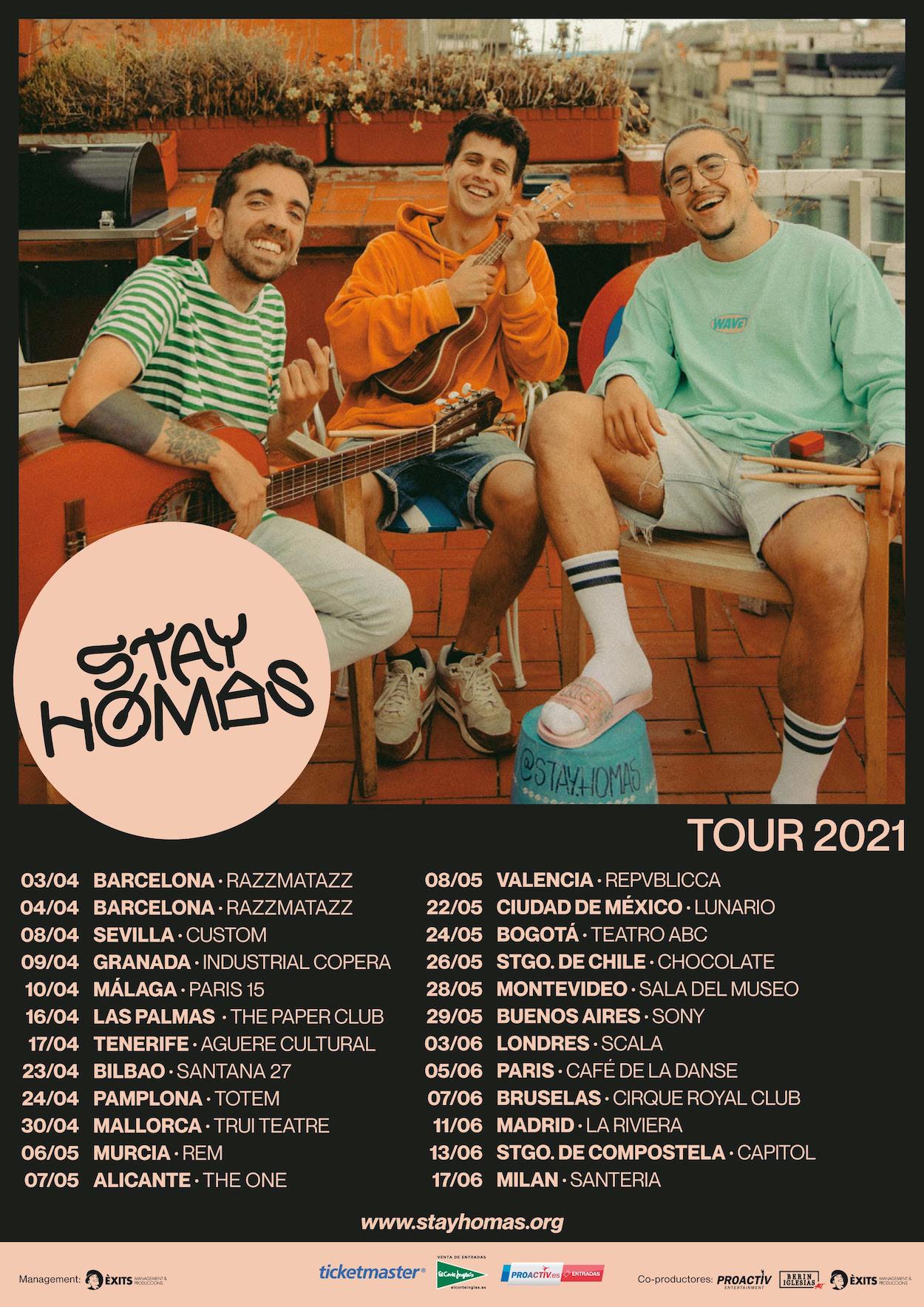 Conciertos de Stay Homas en 2021 en España
