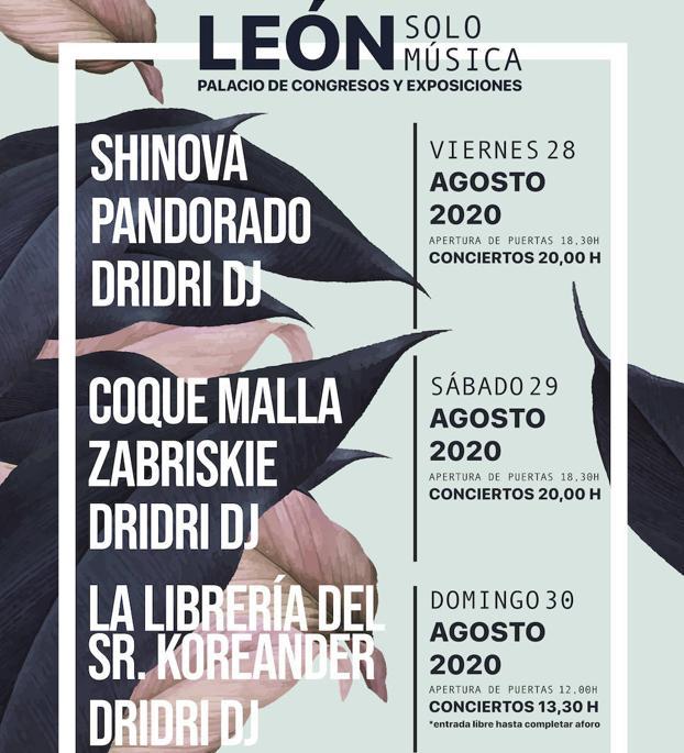 León Solo Música 2020: conciertos, fechas y entradas