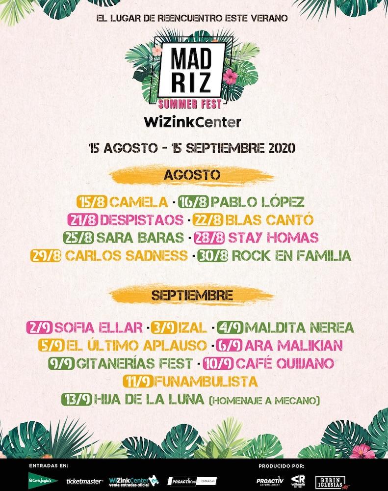 Madriz Summer Fest 2020 : conciertos y entradas